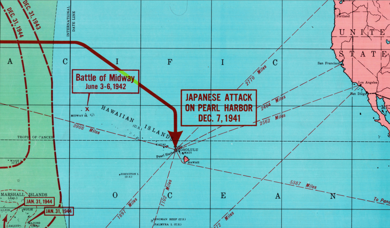 Battle Archives Map Pacific Theater of Operations #2