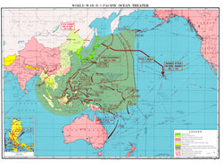 Battle Archives Map Pacific Theater of Operations Color Battle Map