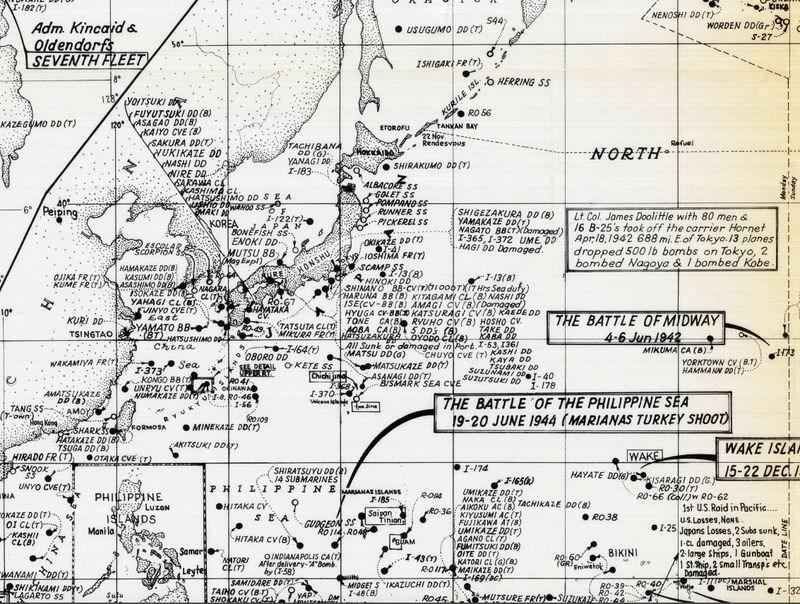 Battle Archives Map Pacific War #1
