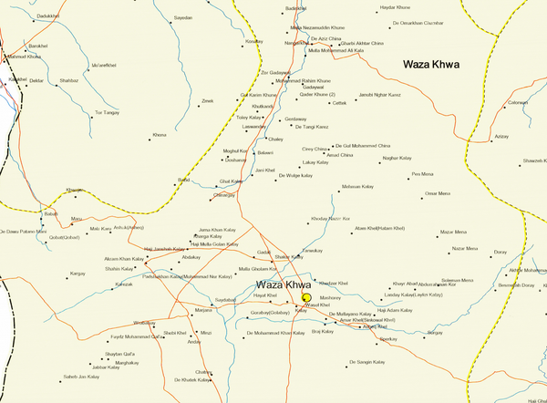 Battle Archives Map Paktika Province, Afghanistan