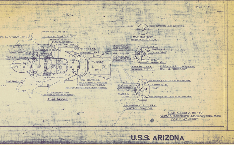 Battle Archives Map Pearl Harbor #2 (USS Arizona)