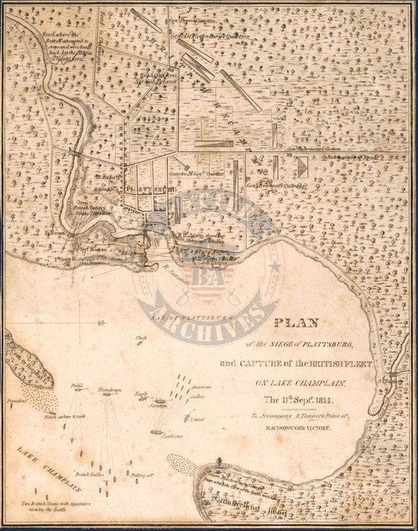 Battle Archives Map Plattsburg, New York