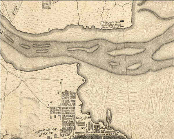 Battle Archives Map Quebec Siege and Blockade Battle Map
