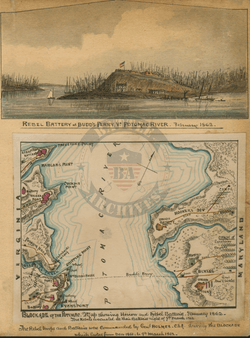 Battle Archives Map Rebel Blockade of the Potomac River