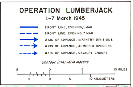 Battle Archives Map Rhineland Operation Lumberjack Battle Map