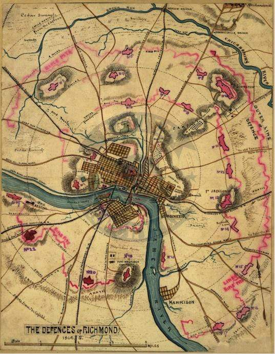 Battle Archives Map Richmond, Virginia #3