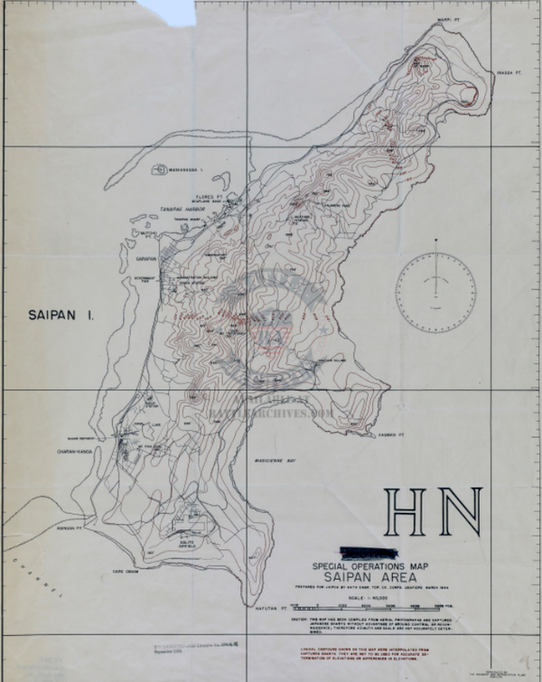 Battle Archives Map Saipan