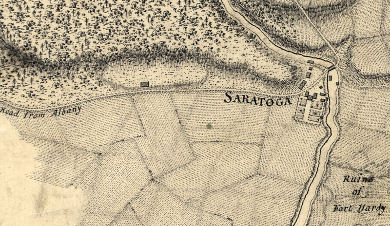 Battle Archives Map Saratoga, New York