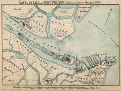 Battle Archives Map Savannah, Georgia #2