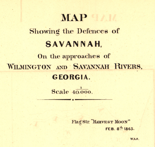 Battle Archives Map Savannah, Georgia #3