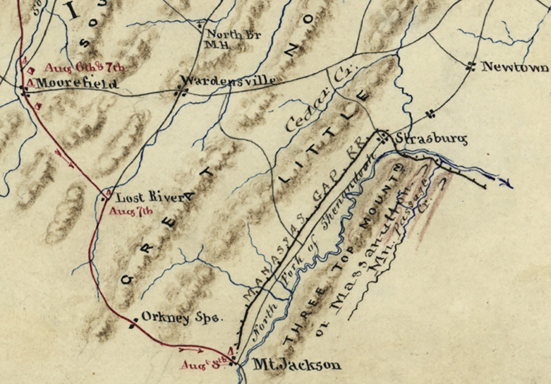 Battle Archives Map Shenandoah Valley Campaign