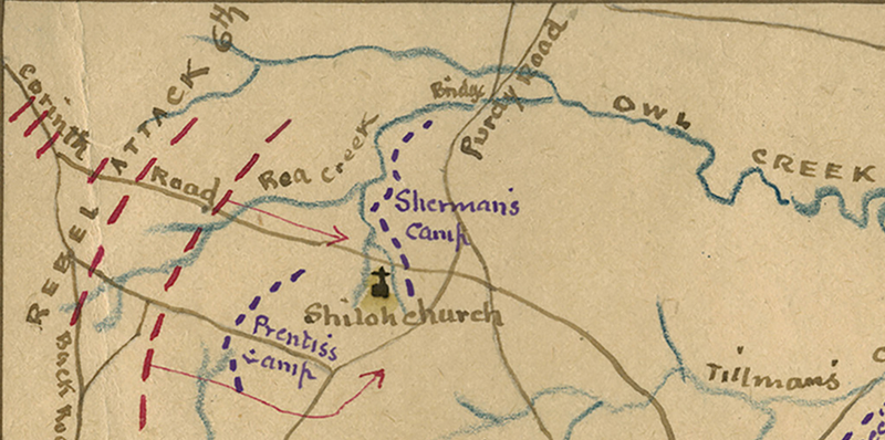 Battle Archives Map Shiloh, Tennessee #1