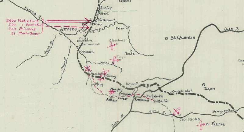 Battle Archives Map Spring Offensive 1918