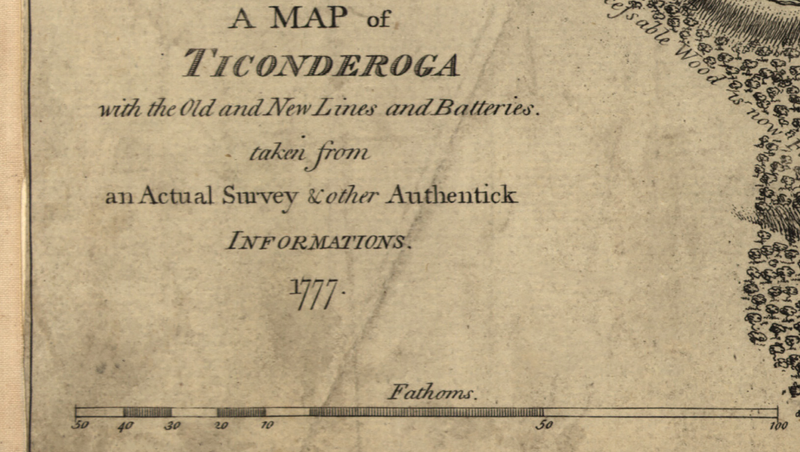 Battle Archives Map Ticonderoga, New York