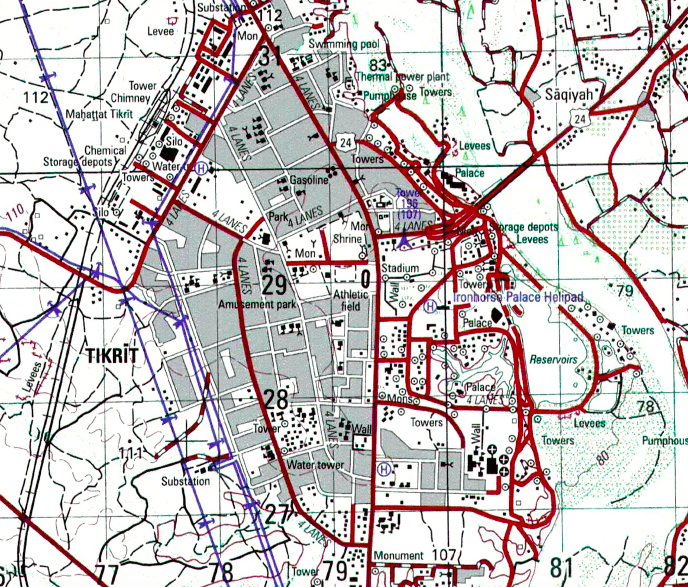Battle Archives Map Tikrit, Iraq