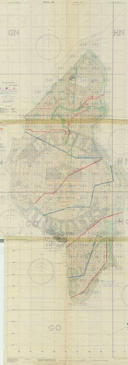 Battle Archives Map Tinian