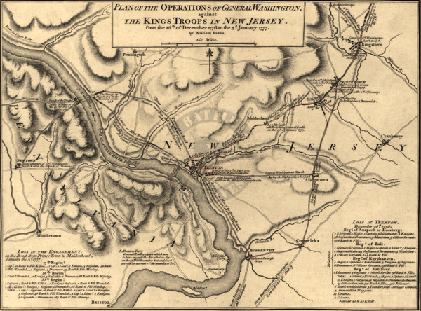 Battle Archives Map Trenton, New Jersey #1