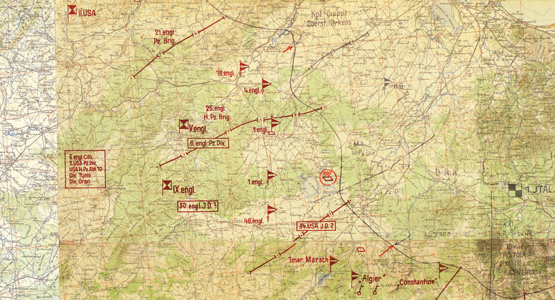 Battle Archives Map Tunisia Campaign (Afrika Korps)