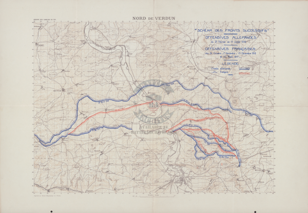 Battle Archives Map Verdun