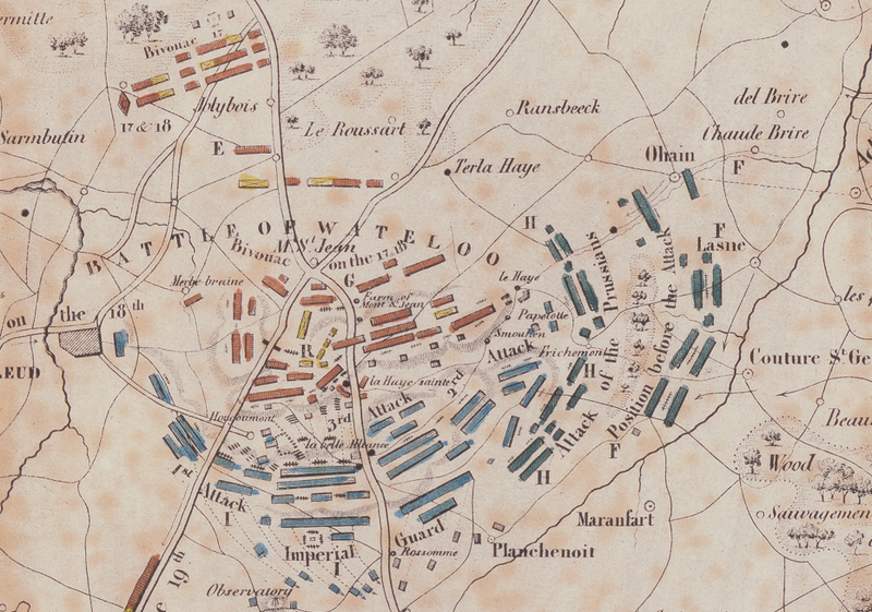 Battle Archives Map Waterloo English Battle Map with Unit Leaders