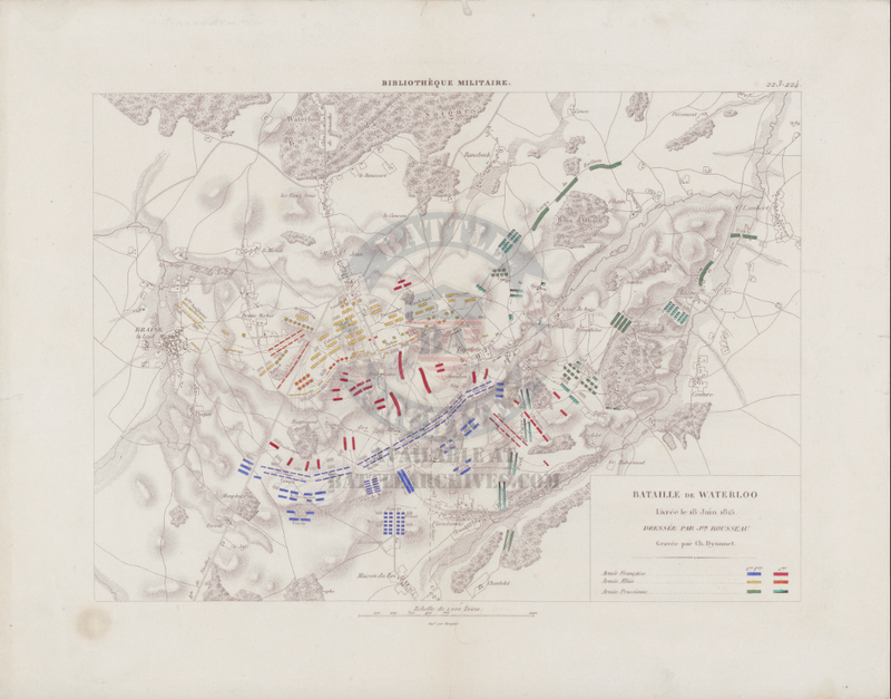 Battle Archives Map Waterloo French Battle Map