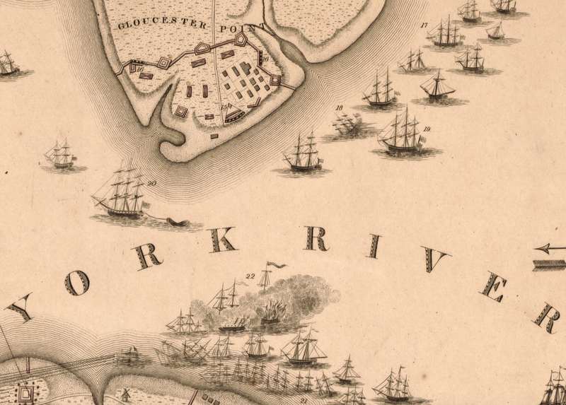 Battle Archives Map Yorktown, Virginia (1781) #4