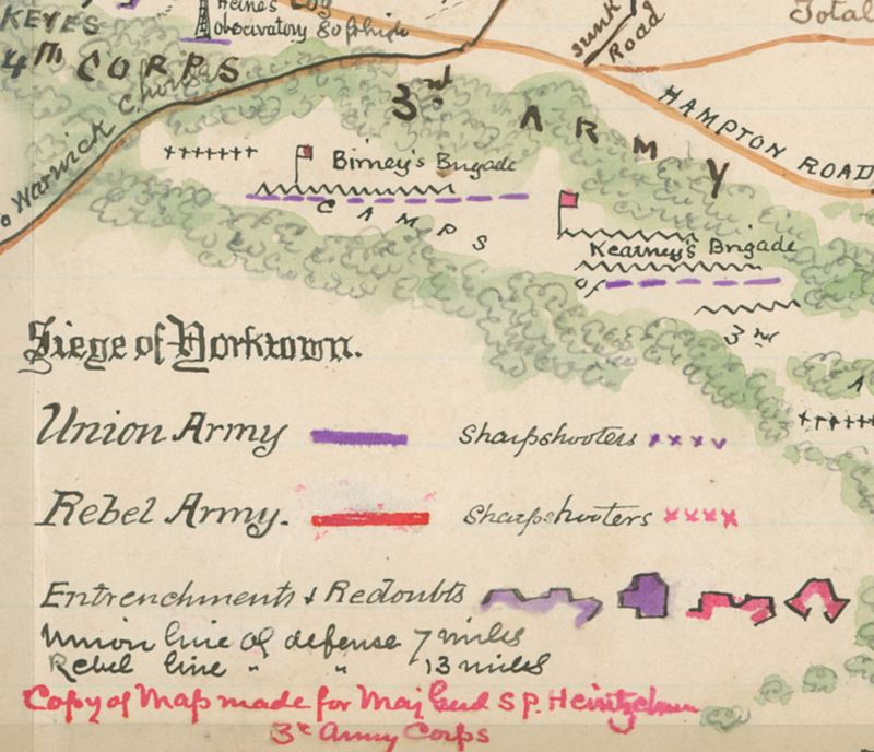 Battle Archives Map Yorktown, Virginia (1862) #1