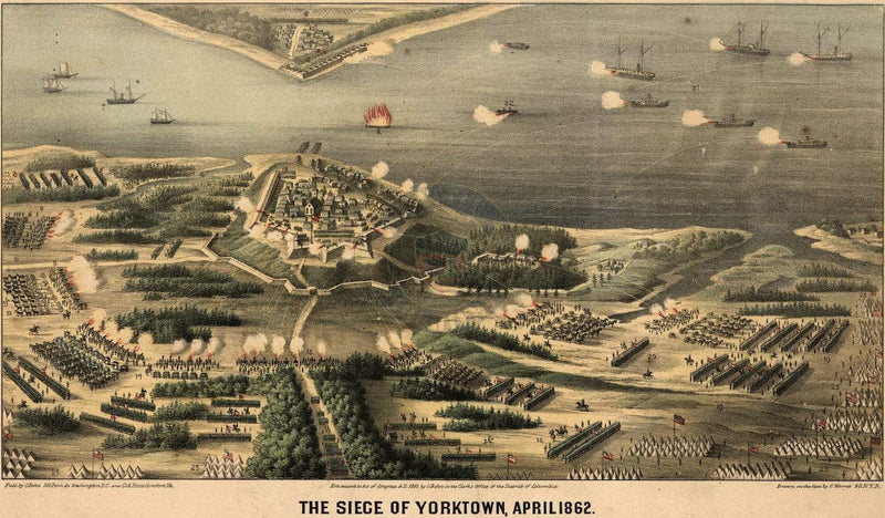 Battle Archives Map Yorktown, Virginia (1862) #2