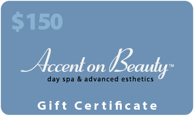 Accent on Beauty $150 Gift Certificate