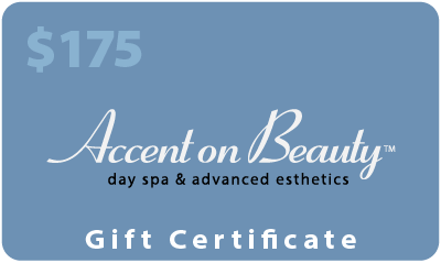 Accent on Beauty $175 Gift Certificate