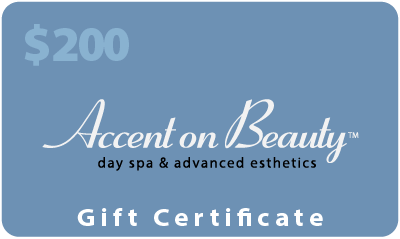 Accent on Beauty $200 Gift Certificate