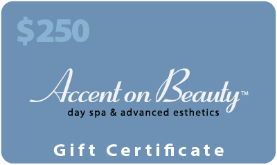 Accent on Beauty $250 Gift Certificate