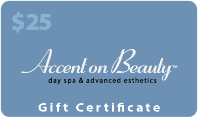 Accent on Beauty Gift Certificate $25