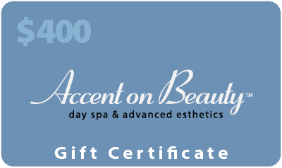 Accent on Beauty $400 Gift Certificate