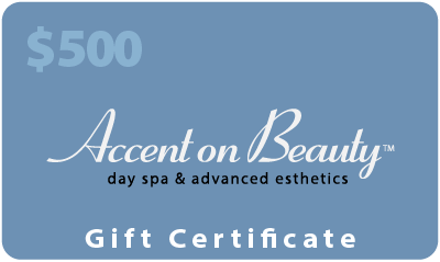 Accent on Beauty $500 Gift Certificate