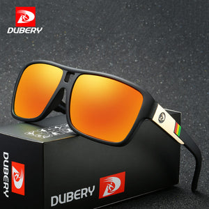 DUBERY Polarized Sunglasses Men's Aviation Driver Shades Male Sun Glasses for Men with Box - Scotch and Rocks