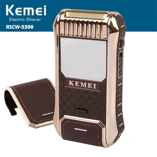 Kemei 2-in-1 electric shaver shaving machine beard trimmer beard shaver electric razor for men barbeador eletrico face care - Scotch and Rocks
