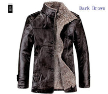 Plus Size XS-8XL!!! Men's Windbreak Leather Jacket Men's Stand Collar Fur Thickening Jackets Waterproof Coat - Scotch and Rocks
