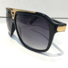 Free ship fashion Luxury brand evidence sunglasses retro vintage men brand designer shiny gold frame laser logo women top quality with box - Scotch and Rocks