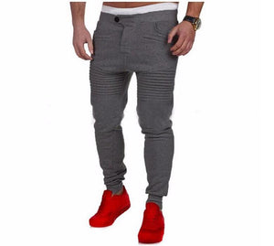Mens Pants Designer Harem Joggers Sweat pants Elastic Cuff Drop Crotch Biker Joggers Pants For Men Black Gray Dark Grey White - Scotch and Rocks