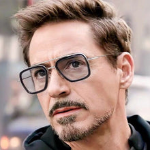 TONY Stark Sunglasses Men Iron Man Robert Blue Clear Glasses Driving Male Eyewear Shades Metal frame Avengers Mirror Women Lady - Scotch and Rocks