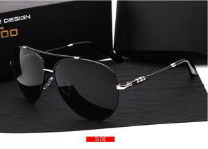 Luxury Brand Aluminum Magnesium Rimless Men's Sunglasses Polarized UV400 Lens Sun Glasses Male Eyewears Accessories For Men with Retail box - Scotch and Rocks