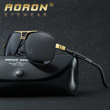 AORON Men's Polaroid Sun Glasses Polarized Sunglasses For Woman Man HD Goggles Luxury Design Metal Glasses Vintage Oculos de sol - Scotch and Rocks