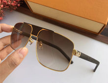 Luxury Brand Designer For Men - Retro Square Leather Glasses - Scotch and Rocks