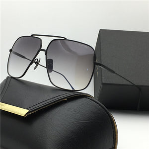 luxury brand sunglasses Flight 005 18K gold plated men's metal frame Classic steampunk Sunglasses top quality UV400 lens with original box - Scotch and Rocks