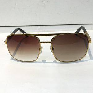 Luxury Attitude Sunglasses For Men Fashion 0260 design UV Protection Lens Square Full Frame Gold Color Plated Frame Come With Package - Scotch and Rocks