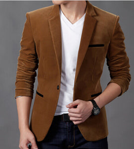 Mens Fashion Blazer British's Style Casual Slim Fit Suit Jacket Male Blazers Men Coat Terno Masculino Plus Size 4XL - Scotch and Rocks