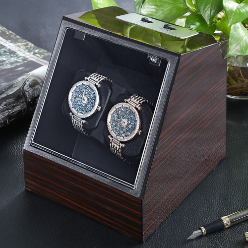 Automatic Watch Winder Watch Display Storage Organizer - Scotch and Rocks