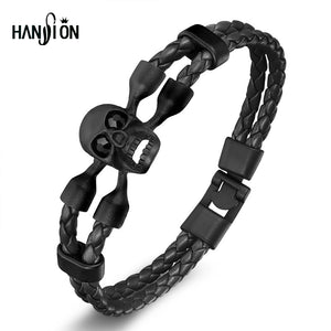 Fashion Men's Skull Bracelet&Bangle Male Multilayer Accessories Homme Jewelry Bl - Scotch and Rocks
