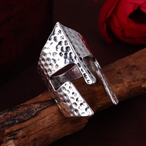 Classic Hammered Style Spartan Ring.  We are Spartans! - Scotch and Rocks